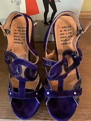 £25 • Buy Hard Hearted Harlot Purple Shoes Size 6/39 Excellent With Box