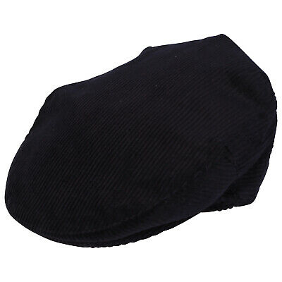Navy 100% Cotton Cord Flat Cap Made In The UK - All Sizes XS 54cm - XXL 62cm • 13£