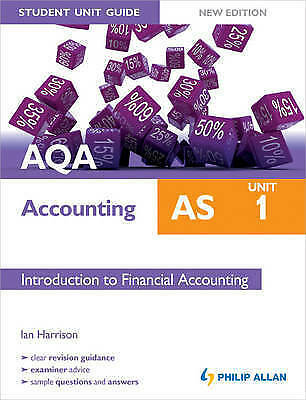 £9 • Buy AQA AS Accounting Student Unit Guide: Unit 1 Introduction To Financial...