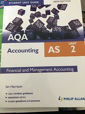 £10 • Buy AQA AS Accounting Student Unit Guide New Edition: Unit 2 Financial And Manageme