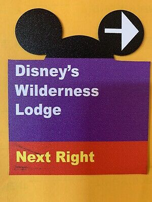 $6 • Buy Walt Disney World Road Sign Inspired Magnet Wilderness Lodge- Ears Cut Out.
