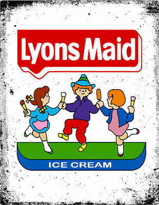 Lyons Maid Ice Cream Metal Lolly Advertising Retro Vintage Kitchen Cafe Pub SIGN • 4.99£