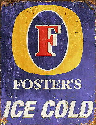 Fosters Beer Lager Advert Retro Vintage Style Metal Bar Pub Shed MAN CAVE SIGN • 4.99£