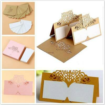 Hollow Laser Cut Lace Seat Card Table Number Name Card Wedding Place Cards ONE • 5.04£