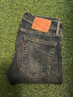Levis Strauss 519 Denim Stretch Skinny Slim Jeans W29 32 501 510 511 • 15£