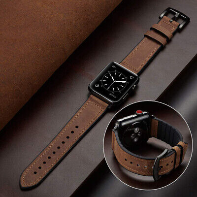$ CDN12.98 • Buy 38/42/40/44mm Genuine Leather&Silicone Band Strap For Apple Watch Series 5 4 3 2