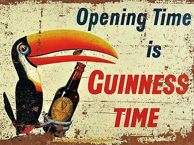 Vintage Retro GUINNESS STOUT BEER Metal Bar Plaque Irish Pub Shed Man Cave SIGN • 4.99£