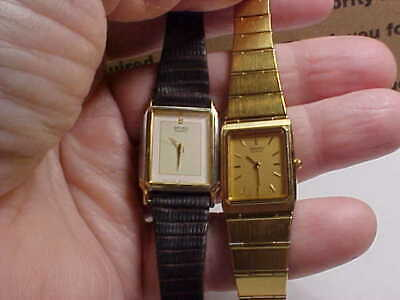 $ CDN66.97 • Buy Lot Of Two Ladies Seiko Watches Rectangular Cases Super Thin Design 7320-5909 Mo