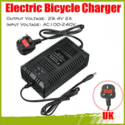 24V Fast Lithium Battery Charger Adapter DC 2Amp For Electric Bicycle E-Bike • 13.99£
