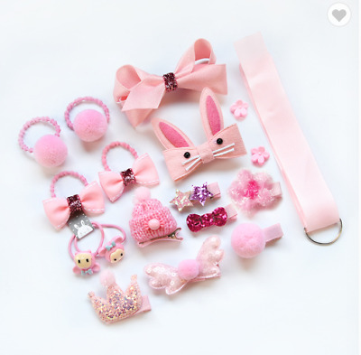 $8.95 • Buy Korean Children's Headdress Hair Clip Fabric Baby Hair Rope Gift Sets