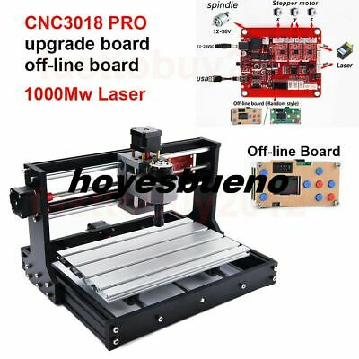Upgraded Offline Control 1000mW CNC Laser Engraving Machine 3018Pro Router Mill • 200.35£