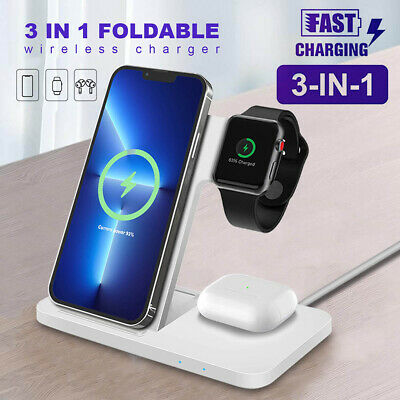 AU28.96 • Buy 4in1 Foldable Qi Wireless Charger Dock Stand For IWatch 5/4/3/2/1 IPhone 11 XS 8