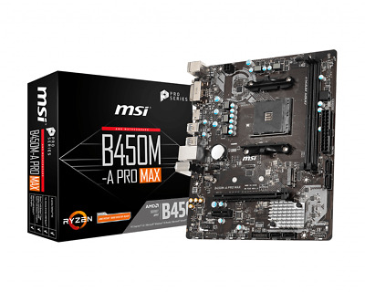 AU135 • Buy MSI B450M-A PRO MAX AMD AM4 Micro-ATX Motherboard Turbo M.2 DDR4