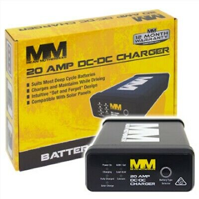 AU205.95 • Buy Mean Mother DC To DC 20 Amp Charger With Solar Input For Dual Batteries  Caravan