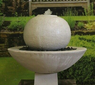 £421.08 • Buy Large White Limestone Patio Ball Fountain Garden Ornament Water Feature