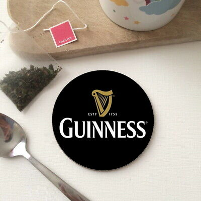 £2.99 • Buy GUINNESS Beer Stout Pub Shed Bar Wood Round Tea Coffee Office Drink Coaster Gift