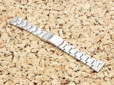 Brushed Stainless Steel Folded Link Watch Strap 22mm Straight Ends • 5.99£