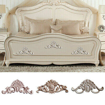 $4.36 • Buy 1PC Wood Carved Decal Rubber Wood Applique Furniture DIY Decoration Eco-Friendly