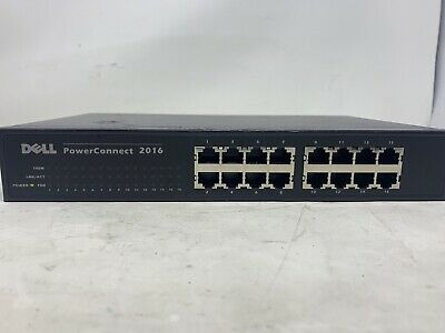 $21 • Buy Dell Powerconnect 2016 16-port Fast Ethernet Rack Mountable Switch Mw