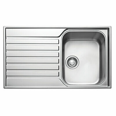 Franke Ascona Inset Sink Stainless Steel 1 Bowl 860 X 510mm (79251) • 89.99£