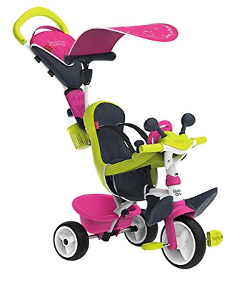 Smoby Pink Comfort Trike With Parent Handle | Push Along Baby Tricycle With A Of • 122.67£