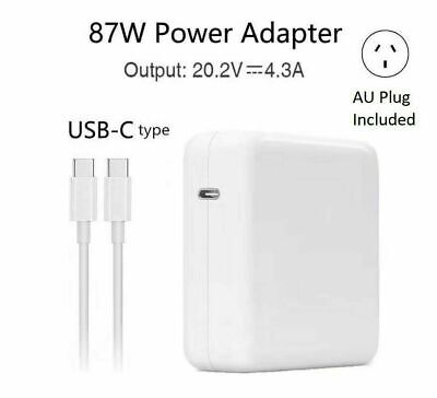 AU39.88 • Buy 87W USB-C AC Charger FOR Apple 15  A1707 MacBook Pro With Thunderbolt 3 Type C