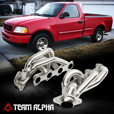 $101.89 • Buy Fits 1997-2004 F150/F250/F350 5.4 {MID-LENGTH} Stainless Exhaust Manifold Header