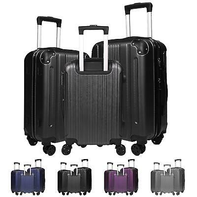 Lightweight Suitcase Set With 4 Wheels Travel Cabin Bag Hard Shell Hand Luggage • 17.95£