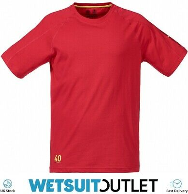 Musto Evolution Logo Short Sleeve Tee T Shirt Top In TRUE RED Yachting Boating • 22.55£
