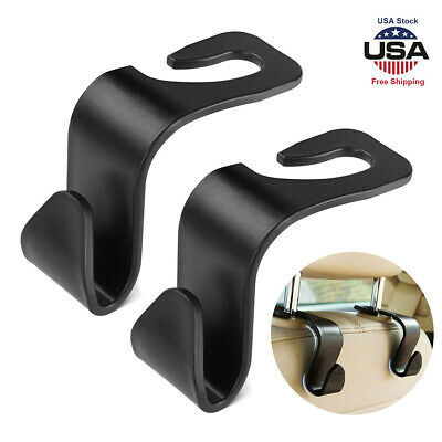 $6.57 • Buy Black Auto Car Seat Hook Purse Bag Hanger Bag Organizer Holder Clip Accessories
