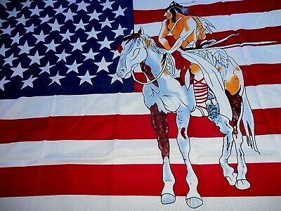 $8.77 • Buy 3x5 Usa Indian Horse Flag Banner  ~  New ~ No Wait Fast Shipping !!!  3' X 5'