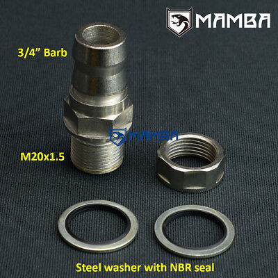 $18.91 • Buy Adapter Fitting M20x1.5 To 3/4  Barb (OD 20mm) No Welding / Turbo Oil Pan US