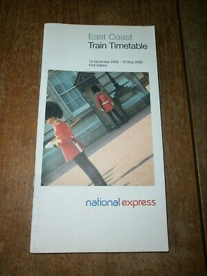 National Express East Coast Timetable Book 2008/09 • 1£