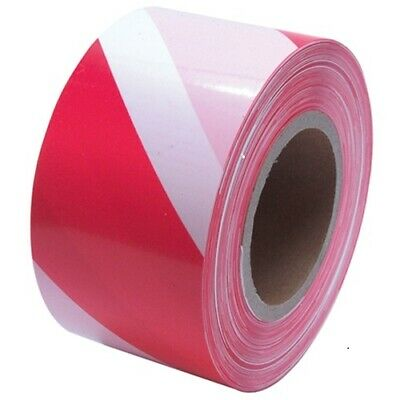 £7.85 • Buy 1 Roll Of 500 Metres Red&White Non Adhesive Barrier Hazard Warning Utility Tape