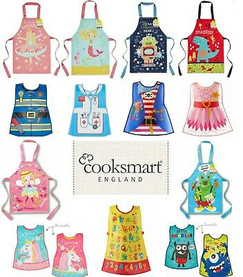 £5.25 • Buy Children's Kids Cooking Painting Messy Play PVC Apron Wipe Clean Overall Kitchen
