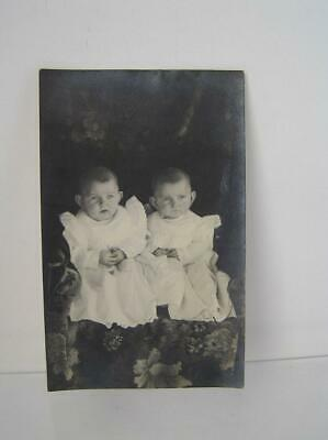$14.99 • Buy Vintage ANTIQUE VICTORIAN CABINET PHOTO TWINS On Post CARD