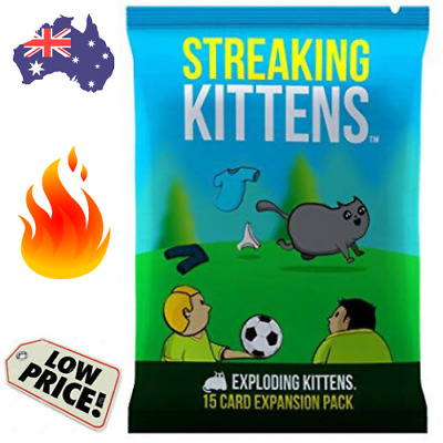 AU12.95 • Buy 🔥 STREAKING KITTENS: 15 Card Second Expansion Pack EXPLODING KITTENS Kids Game
