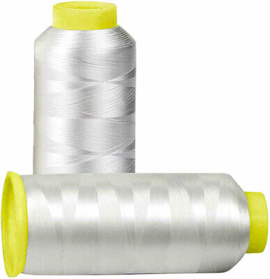 $13.90 • Buy Huge 5000yards Cone Spool Bobbin Thread White Machine Embroidery (Two Pack)