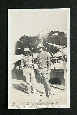 WW1 Post Card - Sgt S.J. Webb And Another Soldier Both With Pyth Helmets • 1.25£