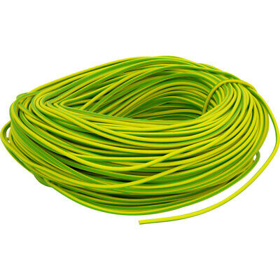 Electrical PVC Earth Green Yellow Sleeving 3mm 4mm 6mm Tubing Wire Cable • 1.89£