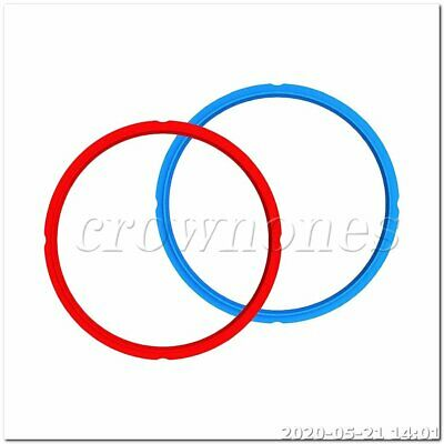 $15.08 • Buy 24*26CM Silicone Instant Pot Sealing Ring 2-Pack - 8 Quart Red/Blue