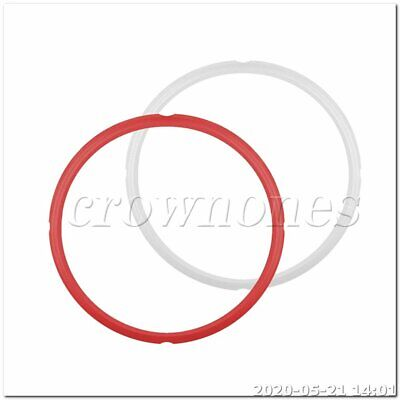$15.08 • Buy 24*26CM Silicone Instant Pot Sealing Ring 2-Pack - 8 Quart Red/White