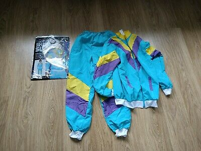 Mens Shell Suit Size S Fancy Dress 80's Karnival Costumes • 9.99£