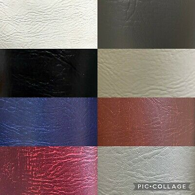 £1.50 • Buy Faux Leather Leatherette Leather Vinyl Material Upholstery Fabric 56