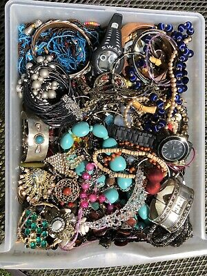 $ CDN32.44 • Buy 8lbs Estate Junk Drawer Vintage To Now Jewelry Lot Craft