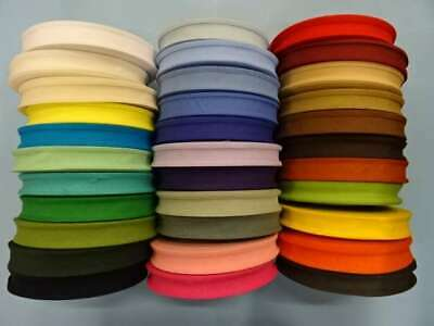 25mm COTTON BIAS BINDING TAPE ( CHOICE OF COLOURS ) • 2.94£