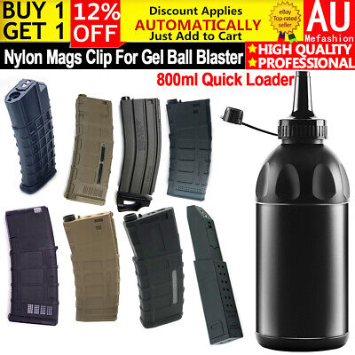 AU19.99 • Buy 7-8mm Nylon Mags Clip For Gel Blaster Mag-Fed Gen8 Gen9 Gen10 LDT GJ SKD M97