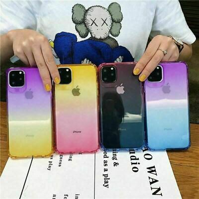 AU3.95 • Buy Genuine IPhone  X XS Max XR 11 PRO MAX Gradient  Silicone Shockproof Slim Case