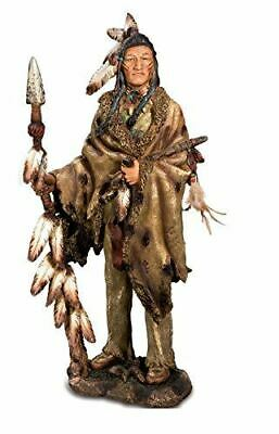 Large Native American Holding Spear Figurine Statue Indian Ornament 54 Cm • 79.95£