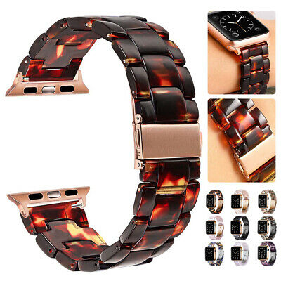 $ CDN16.19 • Buy 38/42/40/44mm Luxury Resin IWatch Link Band Strap For Apple Watch Series 6 5 4 3